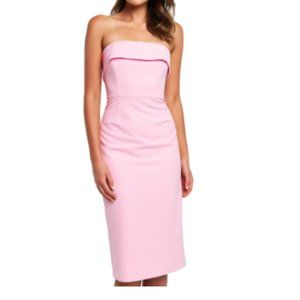 Bardot Pink Georgia Strapless Dress